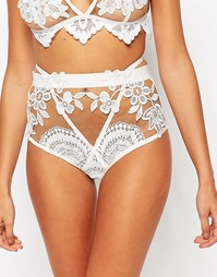 Трусики Skivvies For Love & Lemons Lucia - Белый