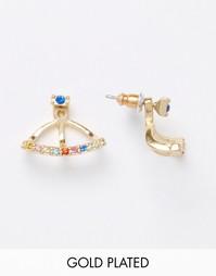 Серьги-подвески с цветными камнями Pilgrim - Золотой