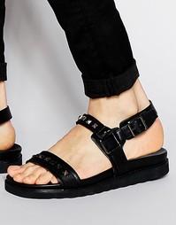 Черные сандалии с заклепками ASOS - Черный