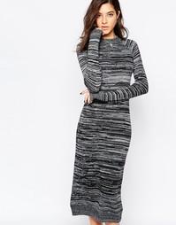 Трикотажное серое платье миди Sisley - Серый