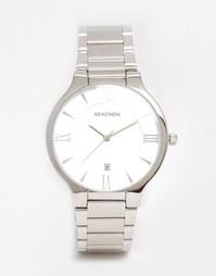 Серебристые часы из нержавеющей стали Sekonda 1154 - Серебряный