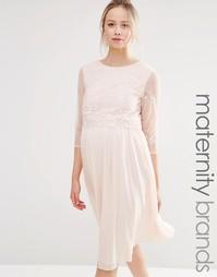 Платье для выпускного с пайетками на лифе Little Mistress Maternity