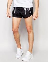 Спортивные шорты в стиле ретро с принтом айсбергов Religion - Черный