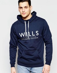 Худи Jack Wills Batsford Summer Popover - Темно-синий