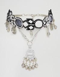 Ожерелье ASOS Festival Vibes - Черный