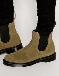 Замшевые ботинки челси Dr Martens - Зеленый