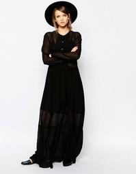 Свободное платье макси Samsoe & Samsoe Kwan - Черный Samsøe &; Samsøe
