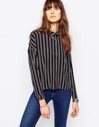 Рубашка в полоску с длинными рукавами Only Pape