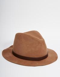 Бежевая шляпа из искусственной замши ASOS - Кэмел