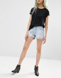 Состаренные шорты Just Female Bold - Потертый голубой
