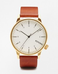Часы с коричневым ремешком Komono Winston - Коричневый