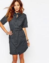Платье-рубашка с поясом G-Star - Черный