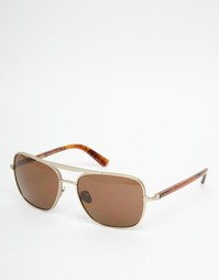 Солнцезащитные очки-авиаторы Calvin Klein - Золотой