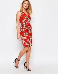 Облегающая юбка с цветочным принтом Vesper Vanessa - Оранжевый