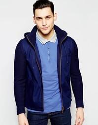 Куртка с вязаными рукавами Boss Orange - Темно-синий