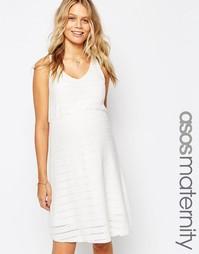 Сарафан кроше для беременных ASOS Maternity - Белый
