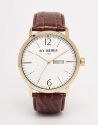 Часы с коричневым кожаным ремешком Ben Sherman Portobello - Коричневый
