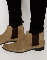 Замшевые ботинки ASOS Chelsea - Stone
