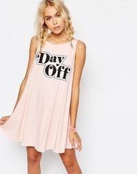 Платье без рукавов Wildfox Cassidy - Arizona blush