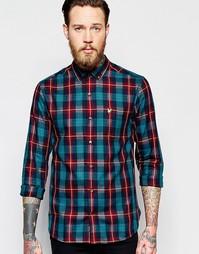 Рубашка в клетку тартан Lyle & Scott - Темно-синий