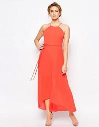Плиссированное платье макси Coast Mauritius - Оранжевый