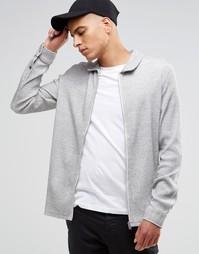 Трикотажная рубашка на молнии Selected Theo - Серый
