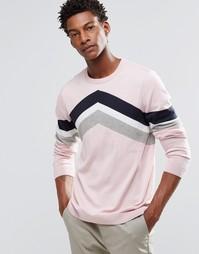 Джемпер с шевронными полосками ASOS - Розовый