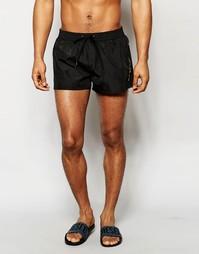 Короткие шорты для плавания Diesel - Черный