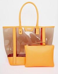 Неоновая пляжная сумка из гибкого пластика Lipsy - Розовый