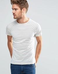 Классическая зауженная футболка в голубую полоску Blend