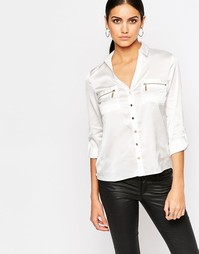 Рубашка с карманами на молнии Lipsy - Белый