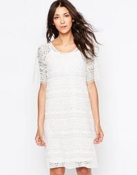 Кружевное цельнокройное платье b.Young - Бежевый