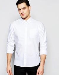 Оксфордская рубашка с воротником на пуговицах Bellfield - Белый