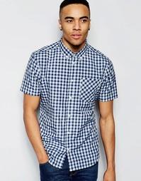 Клетчатая рубашка с короткими рукавами D-Struct - Темно-синий