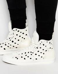 Высокие кроссовки в горошек G-Star Falton - Белый