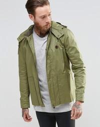 Легкая куртка цвета хаки с капюшоном Pretty Green - Хаки