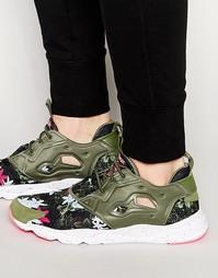 Зеленые кроссовки Reebok Furylite NP V69504 - Зеленый