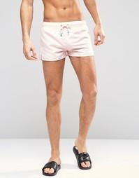 Короткие шорты для плавания Oiler & Boiler Tuckernuck - Розовый