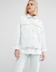 Джинсовая куртка бойфренда Waven Karin - Бледно-мятный