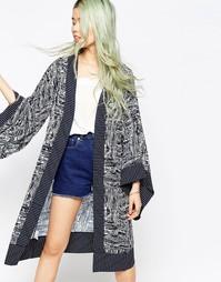 Кимоно с графическим принтом Hazel - Темно-синий