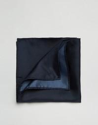 Темно-синий шелковый платок для нагрудного кармана ASOS Wedding