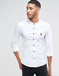 Рубашка классического кроя с горловиной на пуговице Gym King Noir
