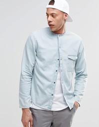 Джинсовая рубашка без воротника Cheap Monday Erase - Голубое облако