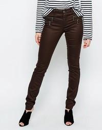 Облегающие джинсы с покрытием Only Olivia - Черный кофе