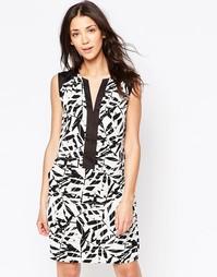 Цельнокройное платье без рукавов с принтом Ichi - Белый