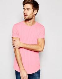 Длинная меланжевая футболка Esprit - Розовый