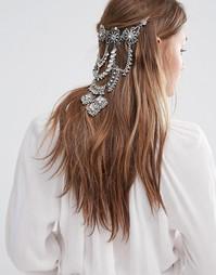 Драпированное украшение для волос Love Rocks Pool Party - Серебряный