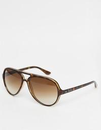 Солнцезащитные очки-авиаторы Ray-Ban 0RB4125 - Коричневый