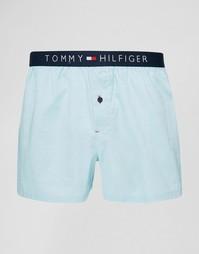 Тканые боксеры Tommy Hilfiger Icon Oxford - Синий