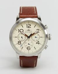 Кожаные часы с хронографом Tommy Hilfiger Jake 1791230 - Коричневый